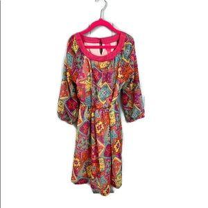 Girls J Khaki 3/4 quarter sleeve dress Size 7/8